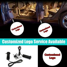 2 Pcs Customized Logo Car Door Projector Ghost Shadow LED Welcome Light
