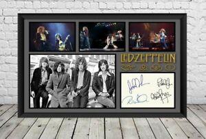 Led Zeppelin Signed Photo Poster Autographed Memorabilia