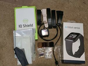 Fitbit Versa plus Accessories, Metal & Rubber Bands, Protective shields, Charger