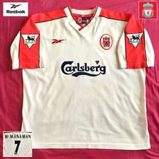 Official Liverpool Football Away Shirt McManaman 1998 Vintage Genuine Reebok