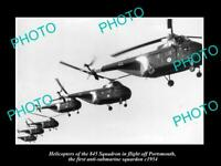 OLD POSTCARD SIZE PHOTO BRITISH AIR FORCE RAF 845 HELICOPTER SQUADRON c1954 2