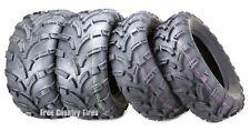 Set of 4 WANDA ATV UTV Tires 26x8-12 Front & 25x10-12 Rear 6PR Mud