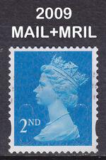 2009 Machin 2nd Class Bright Blue SG U2980 MAIL+MRIL Used Security Coil Stamp