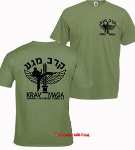 KRAV MAGA - Israel Defense Forces , martial arts, mma T-SHIRT OLIVE / 2 sided