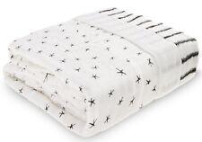 Aden & Anais Oversized Silky Soft Muslin Baby Blanket Midnight NEW