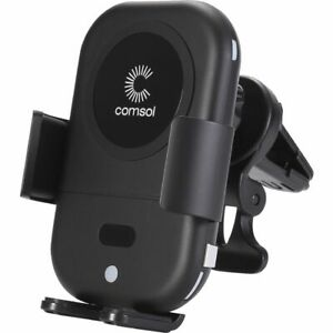 Comsol 10W Auto Sensing Wireless Car Charger Black