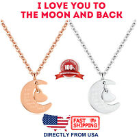 Women's I LOVE YOU TO THE MOON AND BACK Pendant Necklace