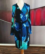 "TED BAKER ""ALVIRA"" FLORAL BUTTERFLY PRINT EVENING DRESS SIZE 2 UK 10"