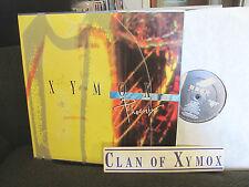 xymox (clan of) phoenix original patti smith '91 wing w/fan STICKER oop rare WOW