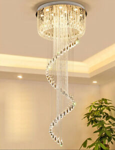 LED staircase K9 crystal chandelier ceiling lamps hanging lamp chandelier lamp