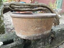 Antique Cast iron Bowl garden planter water feature
