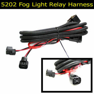 5202 P13W PSX24W Adapter Fog Lights Relay Wiring Harness For Chevy Dodge Ford