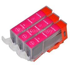 3 Druckerpatronen für Canon + Chip CLI-521 M Magenta MP 640 MX 860 MX 870 MP 620