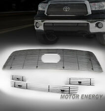10-13 TOYOTA TUNDRA UPPER +BUMPER LOWER BILLET GRILLE GRILL 4PCS COMBO LOGO SHOW