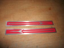 1961 1962 1963 OLDSMOBILE F85 F-85 ROCKET RED SILVER VALVE COVER DECALS NEW PAIR