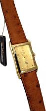 WYLER VETTA OROLOGIO UOMO PLACCATO ORO DATA PELLE WATCH MAN GOLD PLATED LEATHER