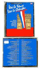 VIVE LA FRANCE VIVE LA CHANSON . 40 Original-Titel EMI Club Edition 2-CD-Box TOP