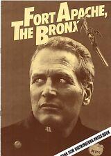 Paul Newman FORT APACHE THE BRONX(1980) Original 8 page press book