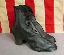 Vintage 1930s Endicott Johnson Defense Boot Galoshes Heel Rain Shoes 6 1/2 NOS