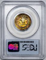1954-S 25C Washington Quarter PCGS MS65 *CAC-Verified* Rainbow-Toned Gem!
