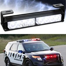 8 LED Car Flashing Police Warning Strobe Light Emergency Dash Beacon Grill White