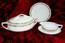 TUREEN/SAUCERS/PLATE PORCELAINE VINTAGE BEAUTIFUL G.GIESCHE SET ABOUT1930's