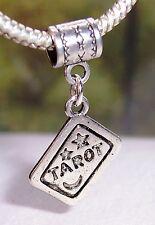 Tarot Card Deck Reading Games Dangle Bead fits Silver European Charm Bracelets