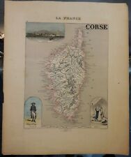 """Antique Map from French Atlas """"France and its Colonies"""" by A. Vuillemin"""
