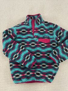 PATAGONIA SNAP-T WOMENS XS PULLOVER WILD DESERT AZTEC SYNCHILLA FLEECE