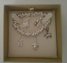 Sterling Silver Candy Bracelet including 5 charms