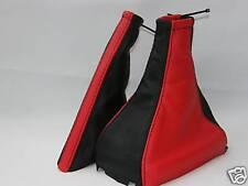 FITS VAUXHALL VECTRA B BLACK & RED GEAR + HANDBRAKE GAITER