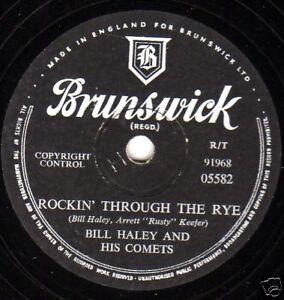Bill Haley 78 Rockin'Through The Rye / Hot Chien Buddy GB Brunswick 05582 E