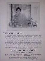 PUBLICITÉ ELIZABETH ARDEN GAMME DE PRÉPARATIONS SCIENTIFIQUES CRÈME ASTRINGENT