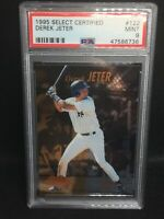 1995 DEREK JETER Select Certified ROOKIE #122 PSA MINT 9 HOF The Captain