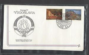 YUGOSLAVIA 1977 FIRST DAY COVER EUROPA AND CARD BOKA KOTORSKA BY MILO MILUNOVIC
