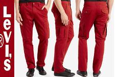 LEVI'S 541 ATHLETIC FIT STRETCH DENIM CARGO PANTS W33 L32,  TOMATO PASTE RED
