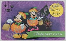 New Disney Parks Halloween Mickey & Minnie Mouse Glow-In-The-Dark Gift Card $0