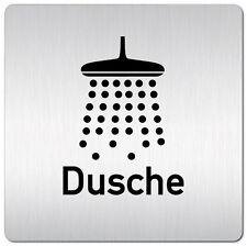 """Aluminium Schild """"Dusche"""" 125 x 125 mm • Türschild • Tür • WC • Toilette • Sauna"""