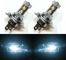 LED 50W HS1 12V White 6000K Two Bulbs Head Light Replace Motorcycle Bike