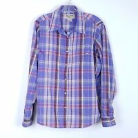 WRANGLER Purple Plaid Pearl Snap Front Western Shirt Cowgirl Womens size XXL 2XL