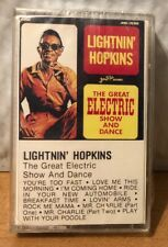 Lightnin' Hopkins The Great Electric Show And Dance Cassette Tape Album SEALED