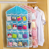KQ_ JP_ Closet Hanging Bag Socks Bra Underwear Rack Hanger Storage Organizer