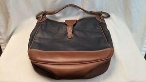 Fabulously Soft! Capezio Navy Blue vintage Leather Bucket Shoulder Bag