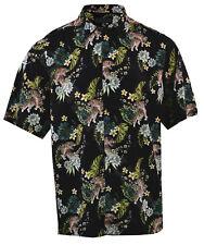 Mens Premium Fashion Hawaiian Floral Shirt Short Sleeve Casual Oversized XS-L
