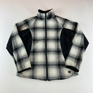 Woolrich Jacket Full Zip Winter White Plaid Womens Size Small