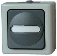 KOPP Aufputz-Feuchtraum, Universalschalter beleuchtet grau