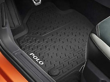 BRAND NEW GENUINE VOLKSWAGEN POLO 2018 RUBBER MATS FRONT & REAR