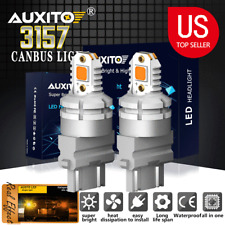 2X 3157 4157 4057 LED Amber Turn Signal Blinker Corner Light bulb No Hyper Flash