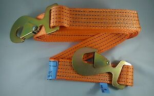 NEW 4x4 RECOVERY WINCH TOW/TOWING ROPE STRAP STROP 4M HEAVY DUTY HOOKS RESCUE