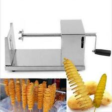 Manual Twisted Potato Slicer Stainless Steel Spiral French Fry Vegetable Cutter